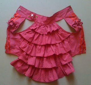 Bella Folho Dress (para cães pequenos) - Bella Folho Vestido Pattern Download…