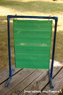 Make your own pocket chart stand out of PVC pipe! These directions will fit the small pocket charts from Target.