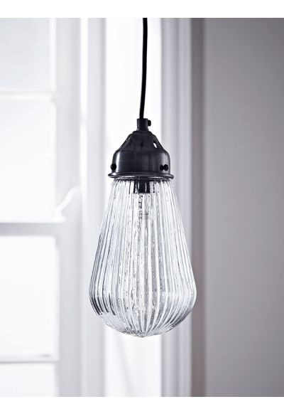 NEW Fluted Glass Bulb Pendant