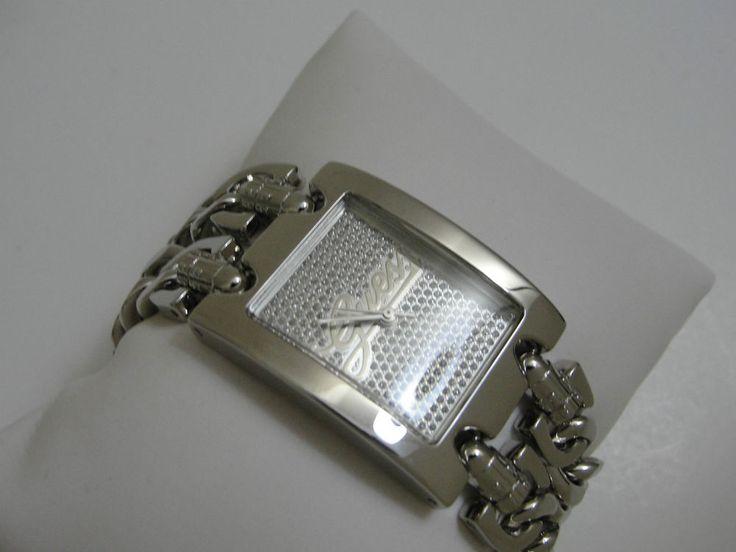 GUESS Damen Uhr U85106L1 SILBER STRASS EDELSTAHL ARMBANDUHR PANZERKETTEN in Uhren & Schmuck, Armband- & Taschenuhren, Armbanduhren | eBay