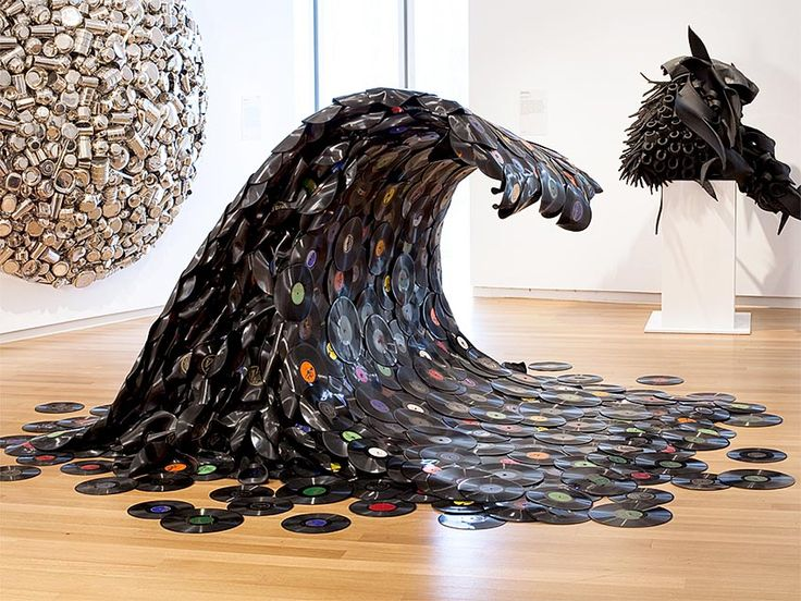 67 best images about trash made into art on pinterest for Waste material hand work