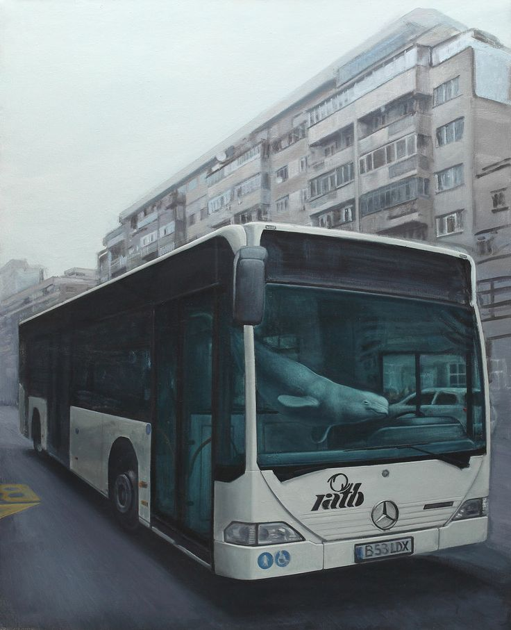 ADRIAN PREDA, Bus with beluga (Lost in traffic) http://lavacow.com/current-auctions/contemporary-east-lavacow-auction/lost-in-traffic.html