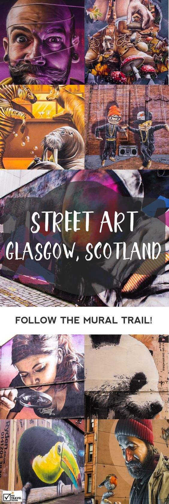 If you are a lover of street art, you will have a great time looking for the best design mural of Glasgow artists. The Travel Tester shows you where to go!