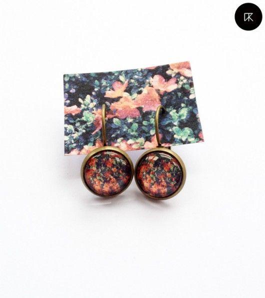 broszki-kolczyki kwietne