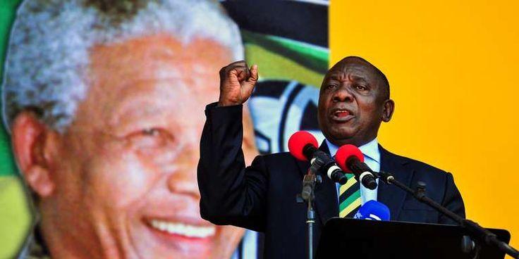 """En Afrique du Sud Cyril Ramaphosa réveille le mythe Mandela et travaille sa stature présidentielle - Alors que le sort de lactuel chef de lEtat Jacob Zuma reste en suspens le successeur dont avait rêvé Nelson Mandela a pris des habits de président lors dun discours au Cap dimanche jour anniversaire de la libération de licône sud-africaine. - http://ift.tt/2BUInwQ - \""""lemonde a la une\"""" ifttt le monde.fr - actualités  - February 11 2018 at 10:35AM"""