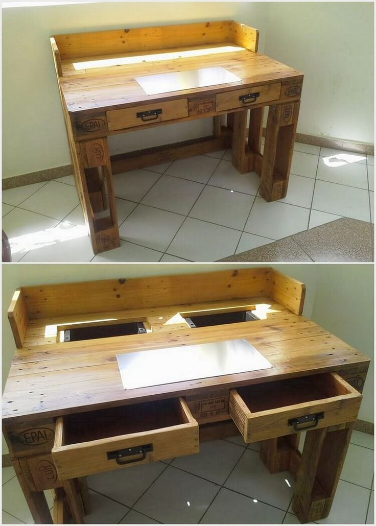 In some of the prominent ideas of reusing old shipping pallets, we would brilliantly be mentioning the name of wood pallet table. You can avail such style of tables for the study purposes as well. This table set included with the drawers into it that are about 2-3 in quantity.