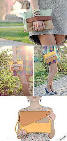 Разноцветная сумка клатч своими руками | Отлично! Школа моды, декора и актуального рукоделия