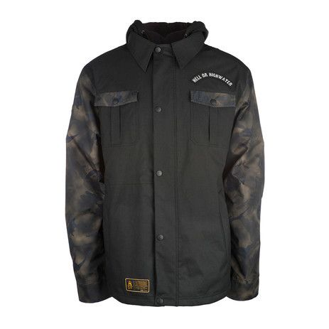 3CS 511 Elm Men's Snowboard Jacket - Jet Black