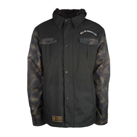 3CS 511 Elm Men's Snowboard Jacket - Jet Black