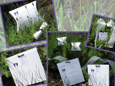 """Hochzeitskarten """"Herztrend"""" in lila"""