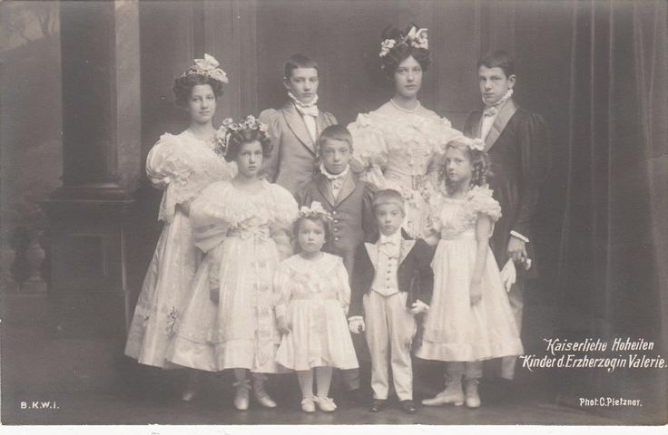 Sweet Children of Archduke Franz Salvator and Archdss Valerie of Austria
