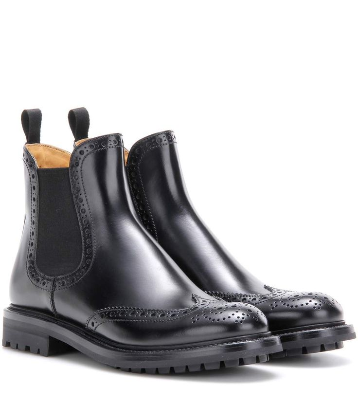 CHURCH'S Aura Leather Chelsea Boots. #churchs #shoes #boots