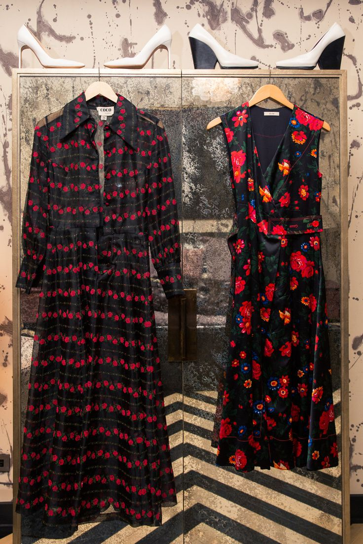 Inside Finery Founder Whitney Casey's Closet: When someone has as much energy and personality as Casey does, they usually have a wardrobe to match, which was exactly the case when we finally dug into the goods in her bedroom-sized-by-NYC-standards closet. -- Red and black print dresses  |  coveteur.com