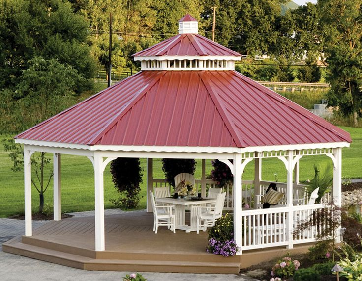 Best Burgundy Tin Roof Gazebo Gazebo Pergola Metal Roof 640 x 480
