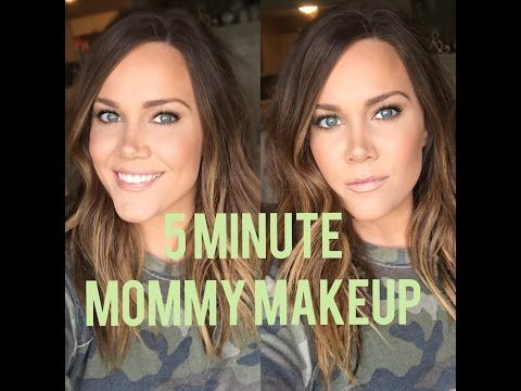 Quick 5 Minute Mommy Makeup Routine! - YouTube