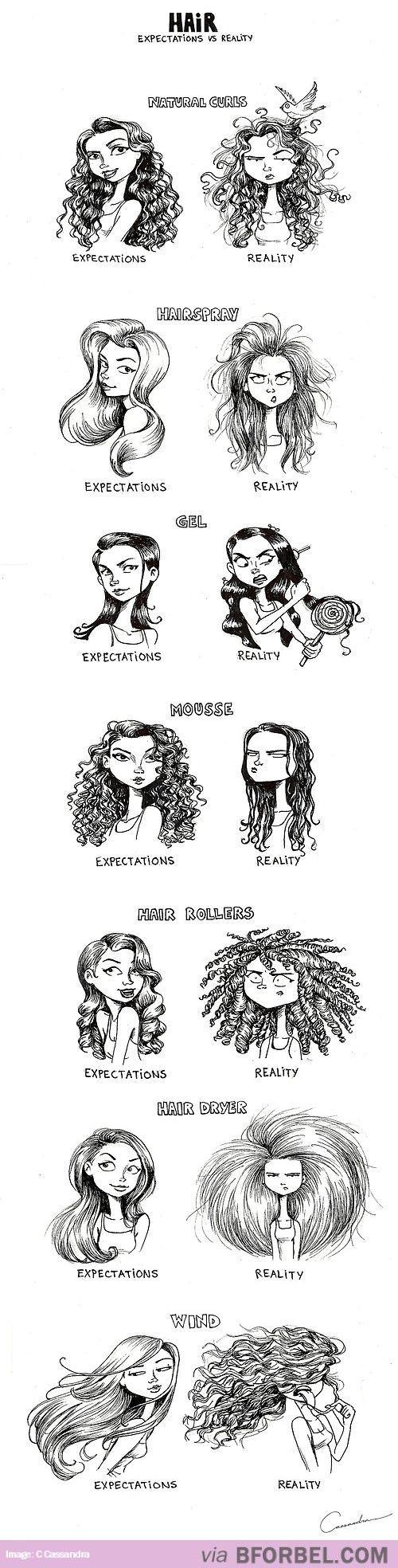 7 Hair Expectations Vs Reality Scenarios…