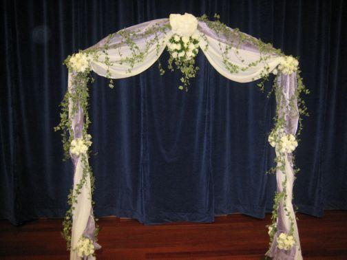 indoor+wedding+arch+decorations | Your Wedding Partner - Wedding Flower Services | Wedding Planner
