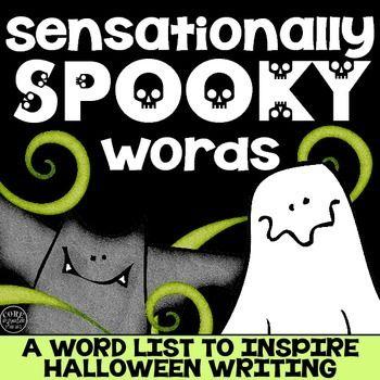 sensationally spooky words halloween word list freebie - Words About Halloween