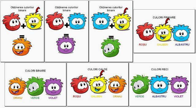 Materiale didactice de 10(zece): Obţinerea culorilor