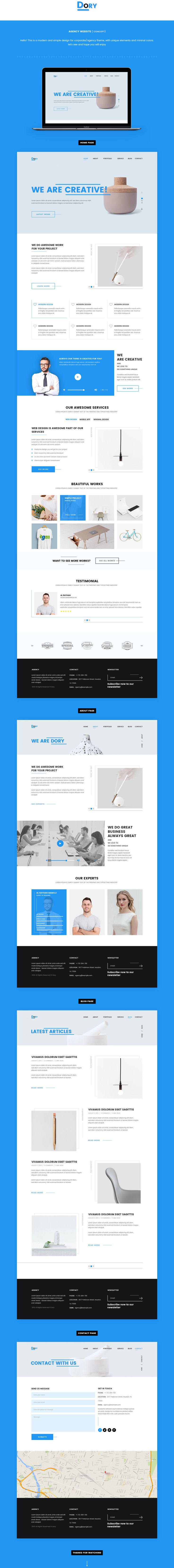 Hi There!This is a multipage website concept for corporate/agency theme, with modern and clean design, I tried to make a nice layout for this theme, hope you will enjoy.Thanks.