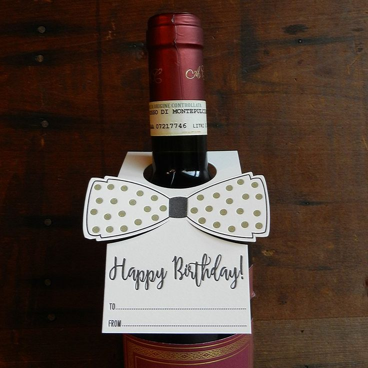 Happy Birthday Letterpress Bottle Bow Tie by Typothecary Letterpress