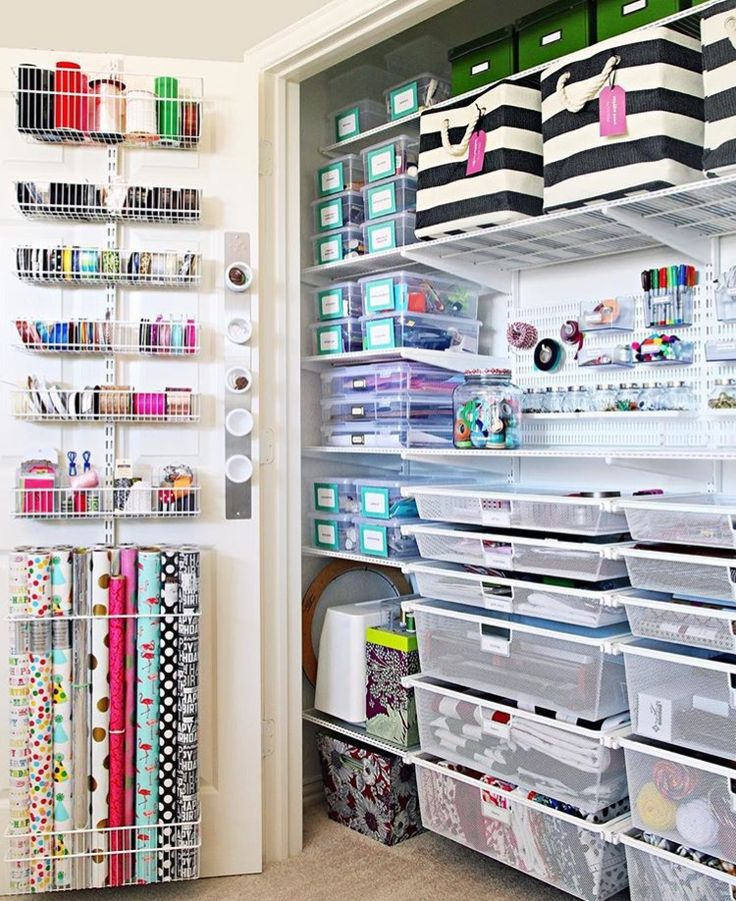 The Ultimate Craft Closet Organization this is