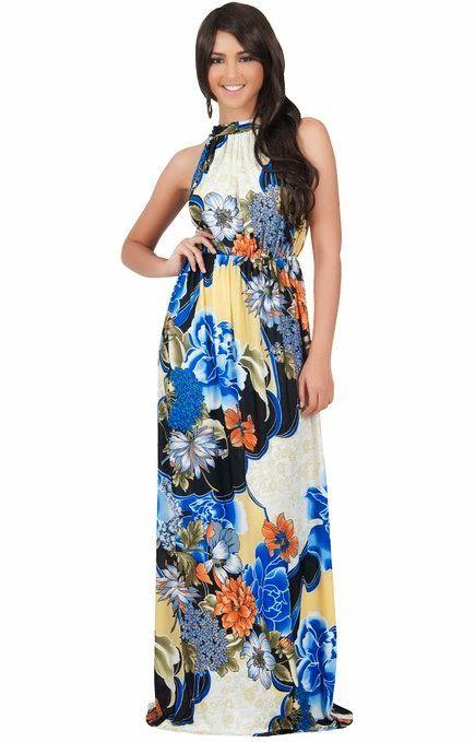 halter maxi dress: Floral Halter Maxi Dress