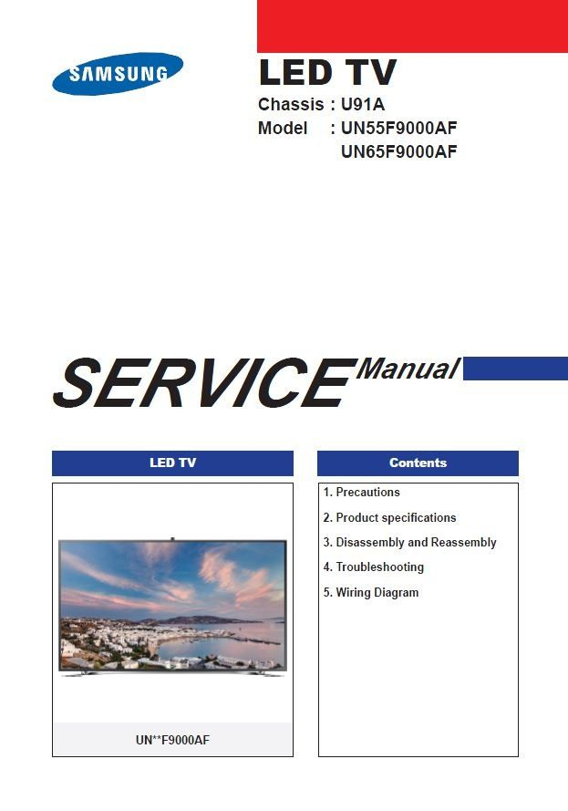 Samsung Un55f9000 Un55f9000af Un55f9000afxza Tv Service Manual Tv Services Led Tv Repair Guide