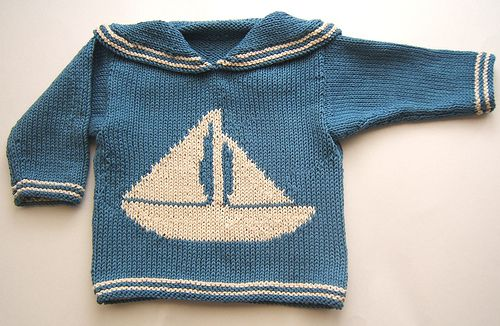 blue + boat = adorable boy's sailboat sweater