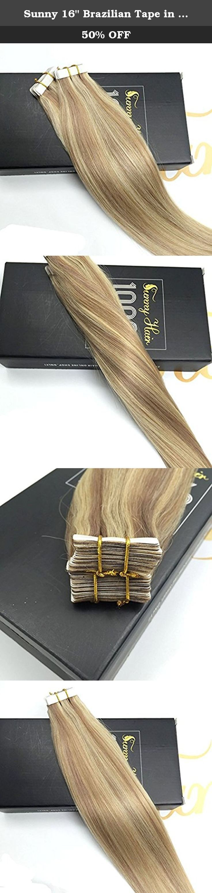 """Sunny 16"""" Brazilian Tape in Human Hair Extensions Two Tone Color Dark Ash Blonde with Golden Blonde Highlights Human Hair Extensions Tape in 50g 20pcs. Tape in hair is a great choice for anyone with almost any hair type, which is fast,fun and easy. Sunny Hair tape in hair extensions are made with 100% remy human hair and premium strong adhesive tape. Hair Details: Sunny Balayage Hair Extension Type: Single Drawn Tape In/Skin Weft Hair Texture: Straight, Please note that hair gets a little..."""