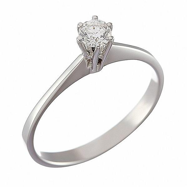 Δαχτυλίδι Μονόπετρο με Διαμάντι Λευκόχρυσος Κ 18