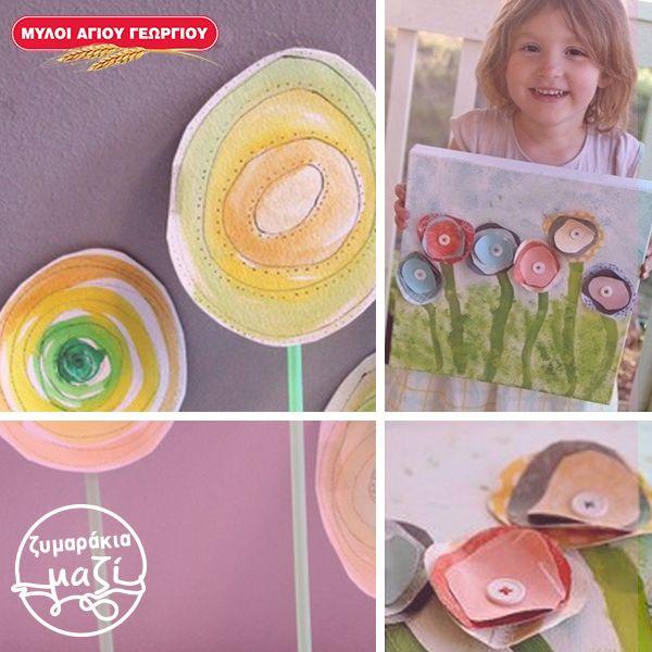 Οι ζωγραφιές δεν χρειάζεται να είναι μόνο από μολύβι και χαρτί! Κόβουμε σχήματα σε διάφορα μεγέθη από χρωματιστά χαρτόνια και παράλληλα, χρησιμοποιούμε νερομπογιές, πινέλα, σφουγγαράκια, ακόμα και κουμπιά! #myloiagiougeorgiou #familytime #painting