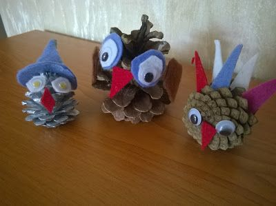 See-Saw: Funny Pinecone Birds (Autumn Kids Crafts!!!)