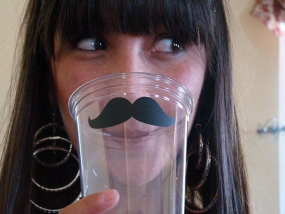 Disposable Mustache Party Cups  24 pack by theflutterfly on Etsy, $11.00