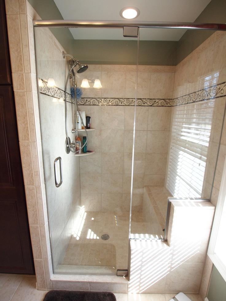 Shower W Built In Seat Home Design Ideas Pinterest