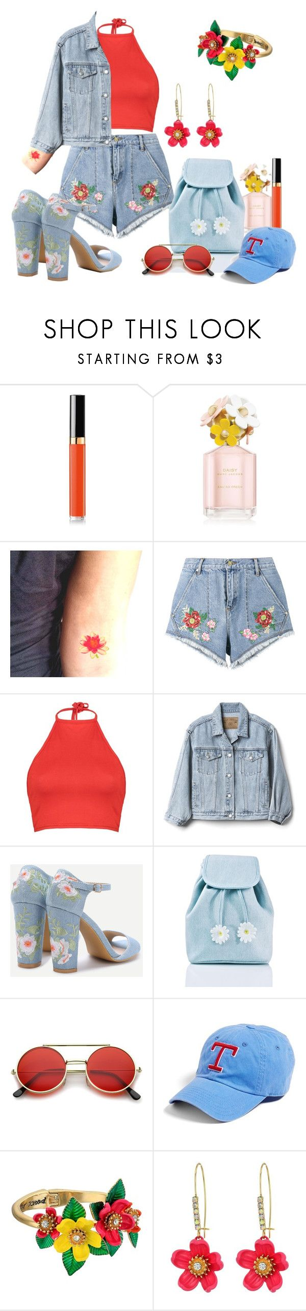 """""""Flower Power"""" by arts22 on Polyvore featuring Mode, Chanel, Marc Jacobs, House of Holland, Boohoo, Gap, Sugarbaby, American Needle und Betsey Johnson"""
