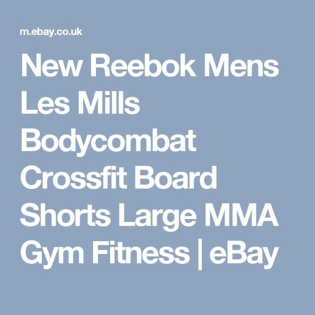 New Reebok Mens Les Mills Bodycombat Crossfit Board Shorts Large MMA Gym Fitness  | eBay