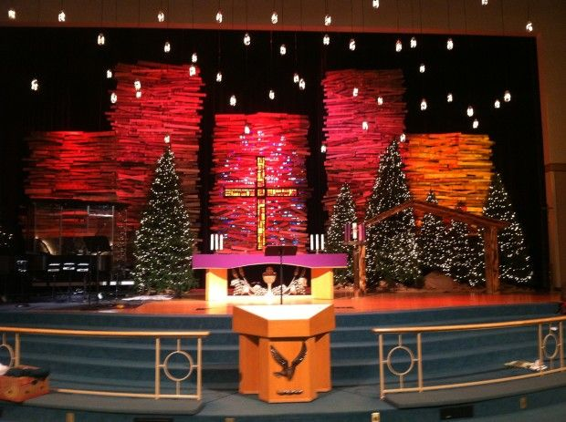 Pallet Skyscrapers Church Stage Design Ideas Church Christmas