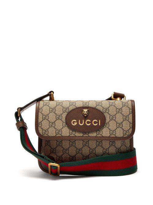 e81a955f39f829 GUCCI GUCCI - GG SUPREME CANVAS MESSENGER BAG - MENS - BROWN. #gucci #bags  #leather #canvas
