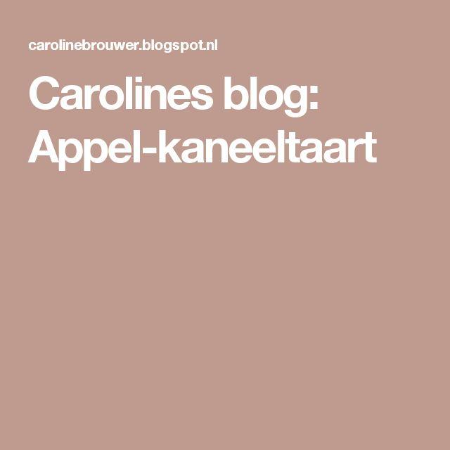 Carolines blog: Appel-kaneeltaart