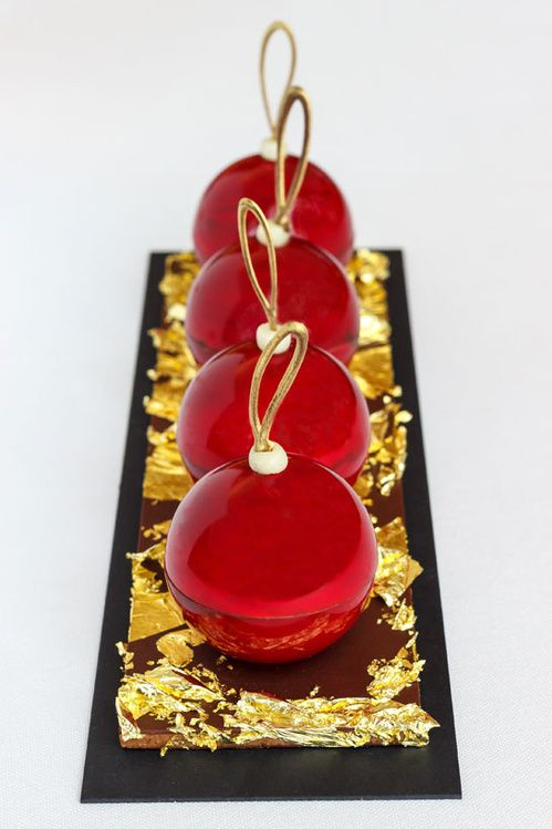Reserve Paris Hotel and Spa & Patrick Roger - Christmas Ornament, Dec15 Shell black cocoa, chocolate mousse and caramel Ecuador salted butter tonka