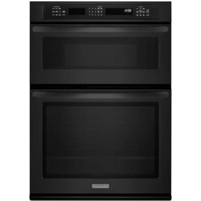 KitchenAid Architect Series II 30 In. Electric Convection Wall Oven With  Built In Microwave In Black