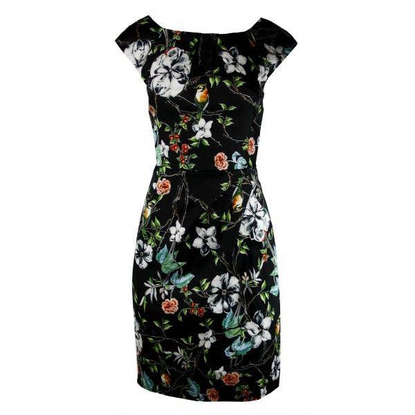 Nathlene Floral Stretch Cotton Dress