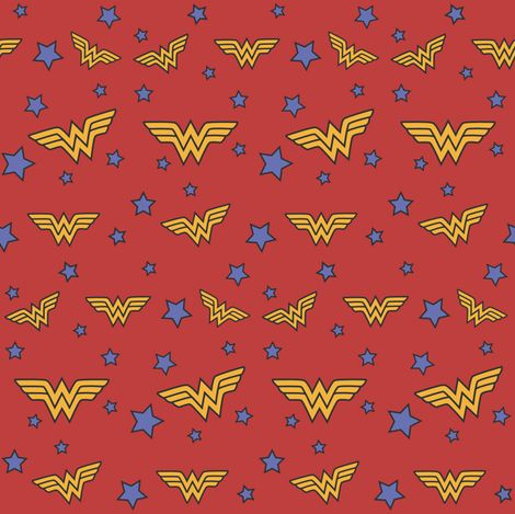 Vintage Wonder Woman fabric by creativefiasco on Spoonflower - custom fabric