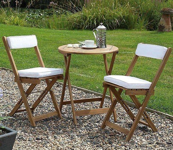Raffles Bistro Set With Cushions. Bistro SetGarden FurnitureFolding  ChairCushions