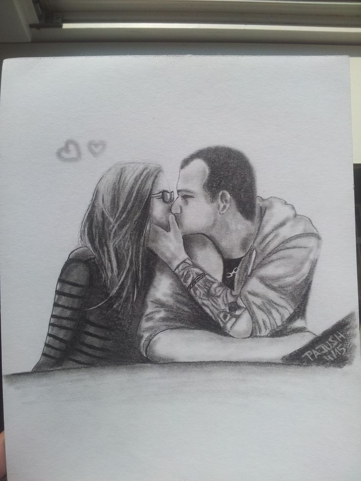 Portrait of my friend with her boyfriend