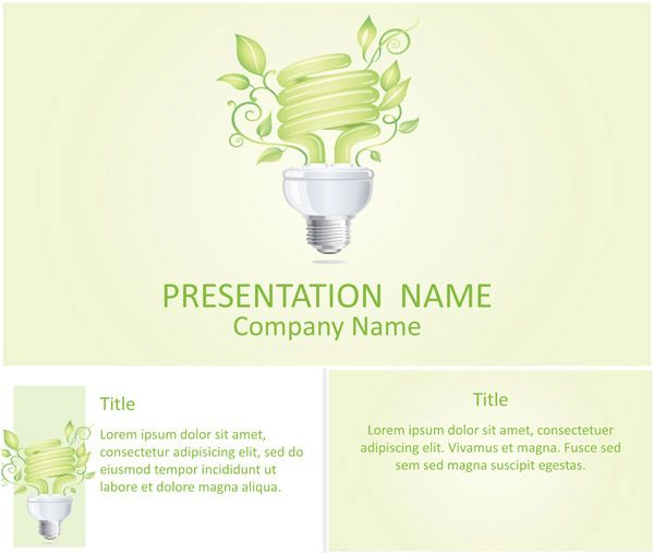 7 best environment powerpoint templates images on pinterest powerpoint template with nice illustration of a green eco lamp with sprout use this theme for presentations on environment energy saving technologies toneelgroepblik Choice Image