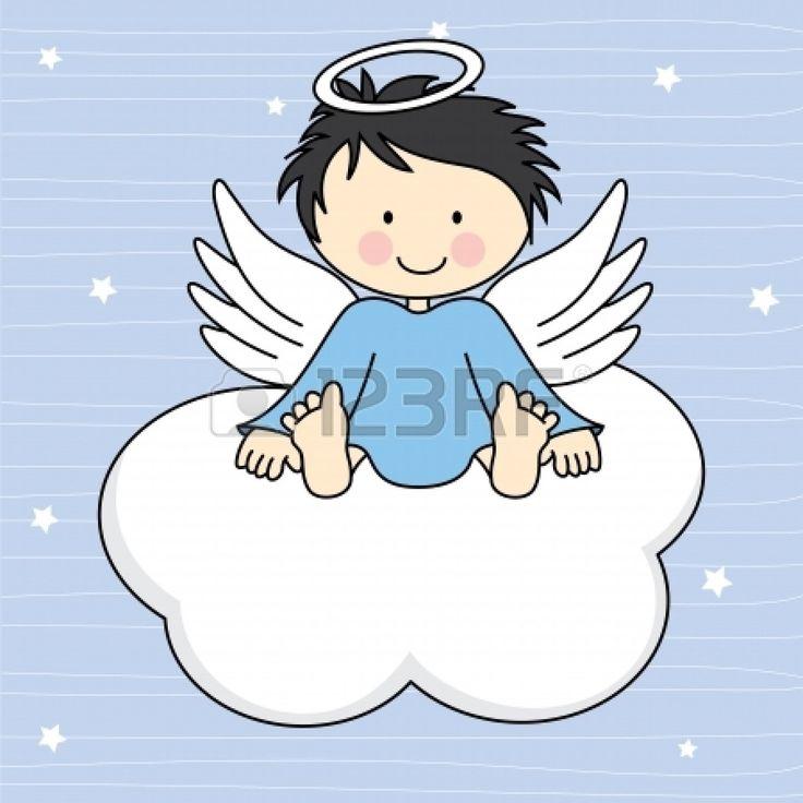 Alas de ángel en una tarjeta de felicitación de la nube Foto de archivo - 20990043