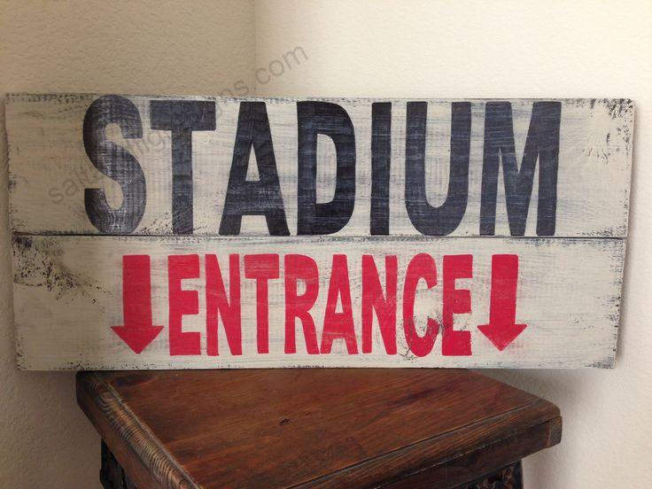 saltandlightsigns.com  Sports stadium entrance wooden sign