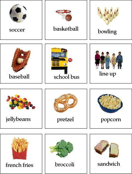 pecs... soccer, basketball, bowling, baseball
